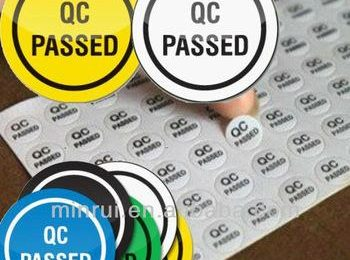 Mẫu tem decal in chữ QC Passed